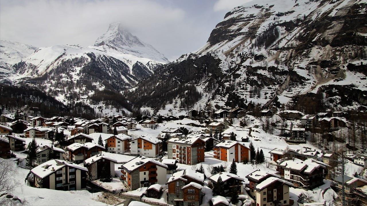 Zermatt Suiza Nieve Suiza
