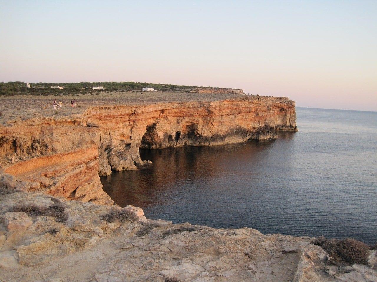 Acantilado Formentera Atardecer Septiembre España