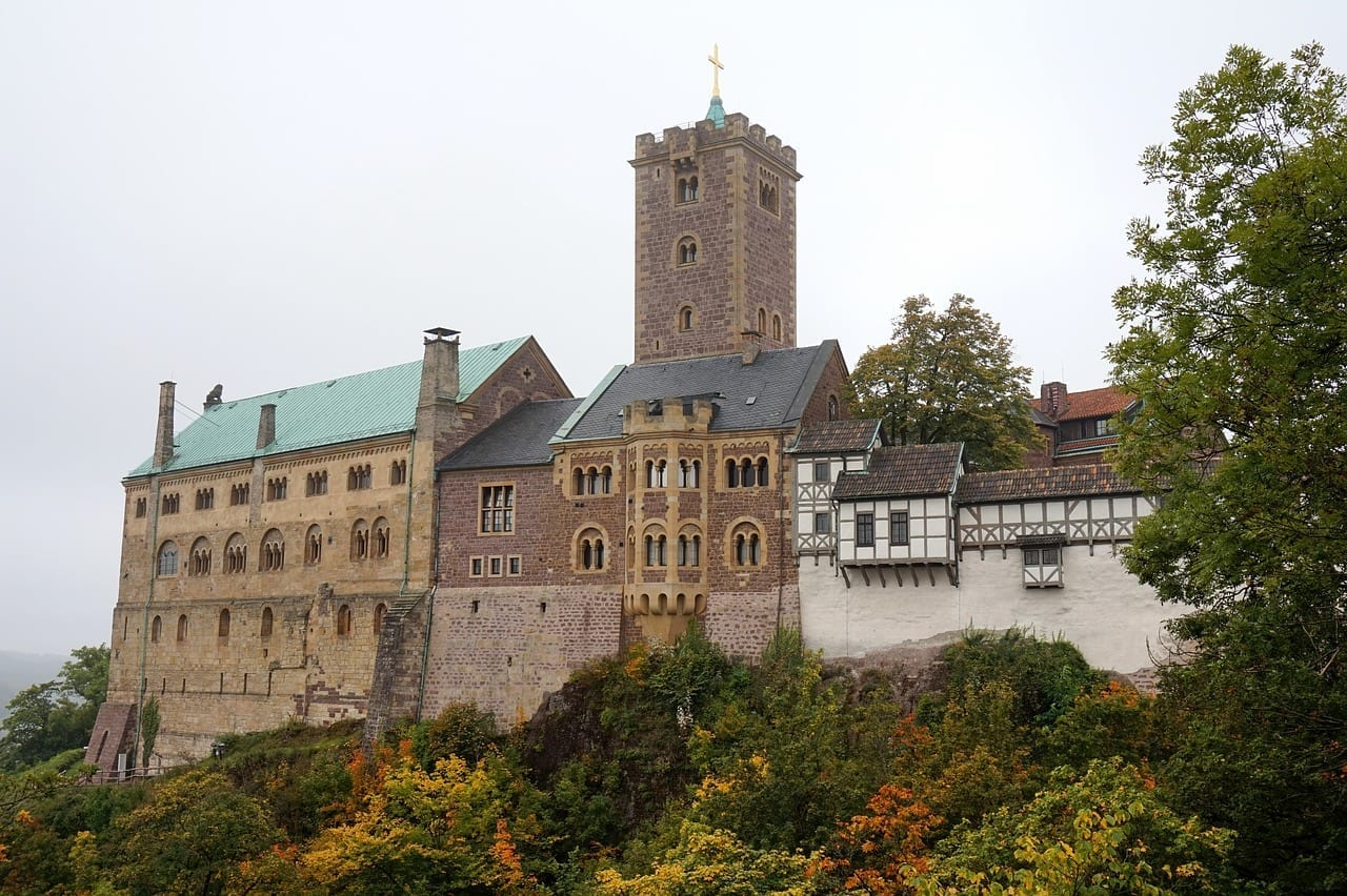 Alemania La Ciudad De Eisenach La Fortaleza De Wartburg Alemania