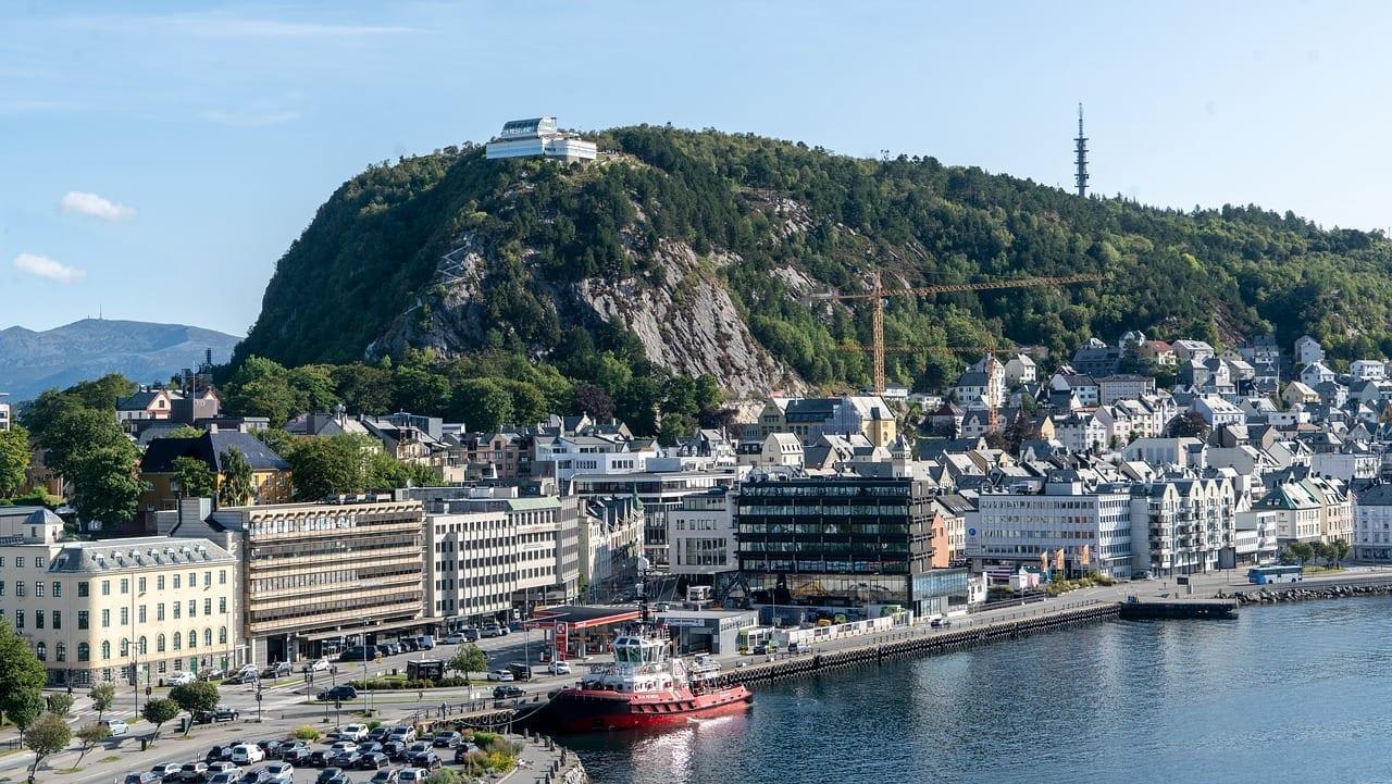 Alesund Noruega Puerto Noruega