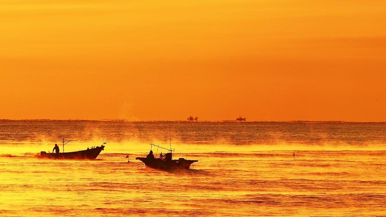 Amanecer Mar Entre El Aeropuerto De Tianjin China