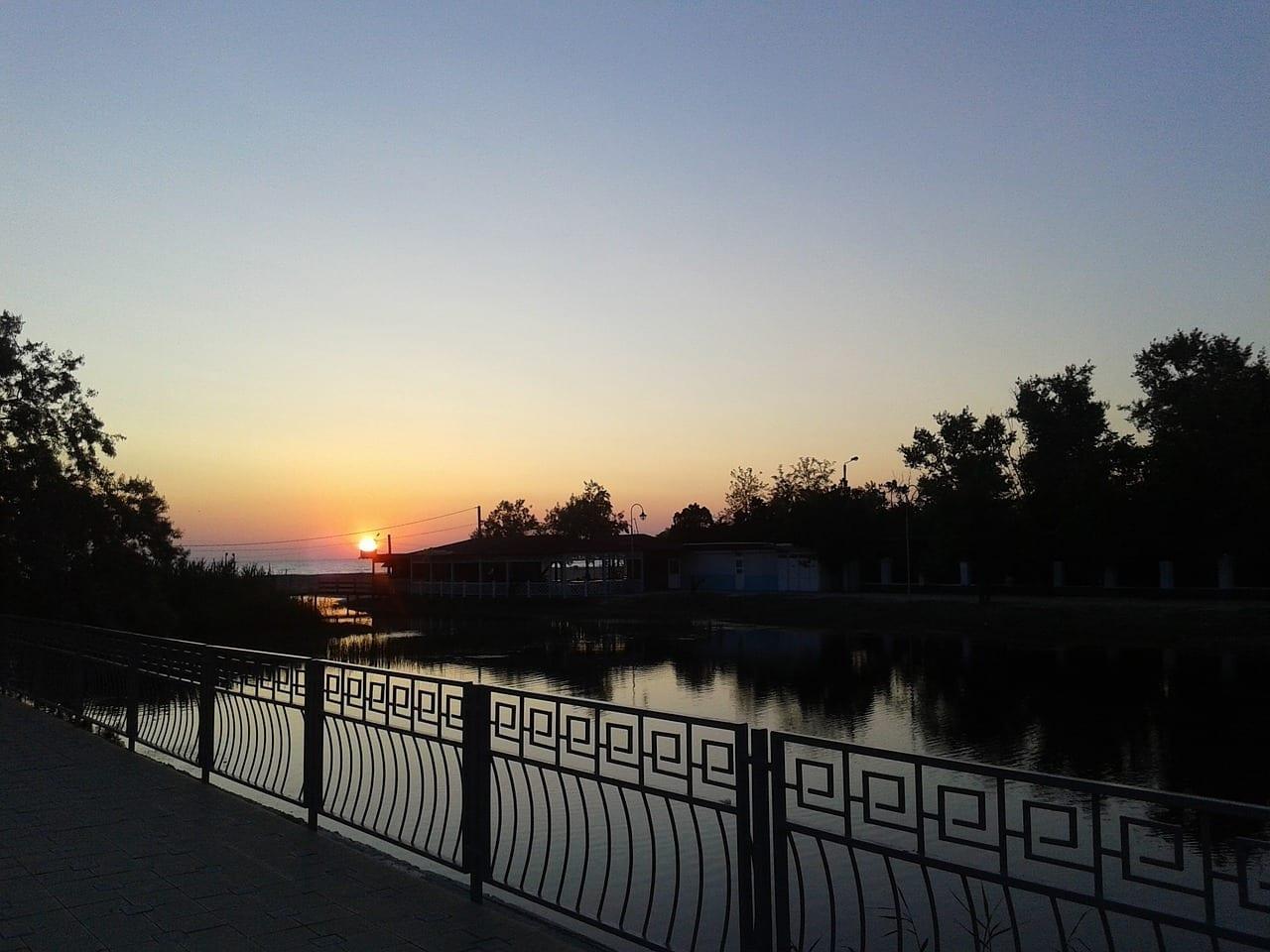 Anapa Noche Puesta Del Sol Rusia