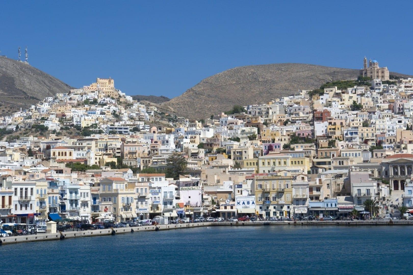 Ano Syros y Ermoupoli Syros Grecia