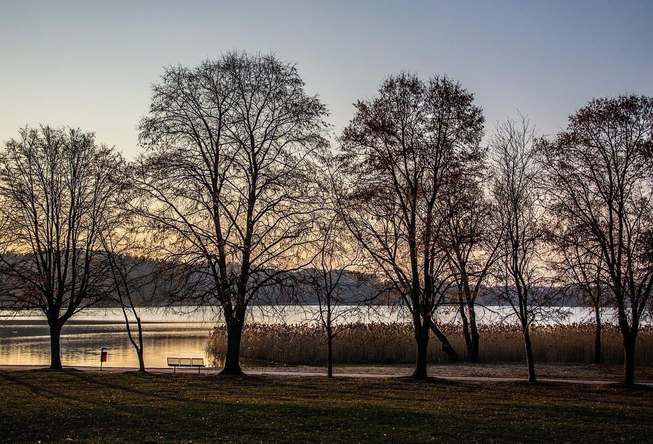 Anochecer Lago Olsztyn Polonia