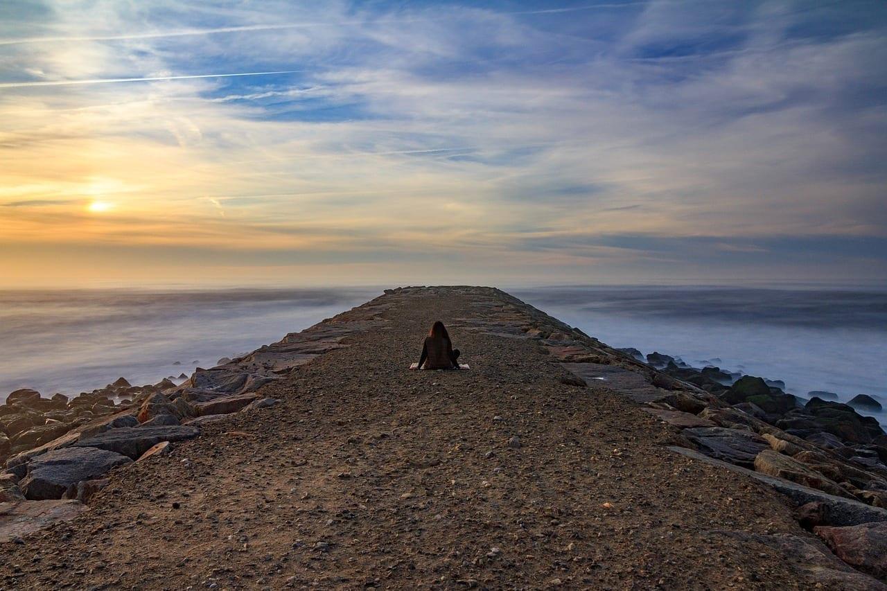 Atardecer Aveiro Meditación Portugal