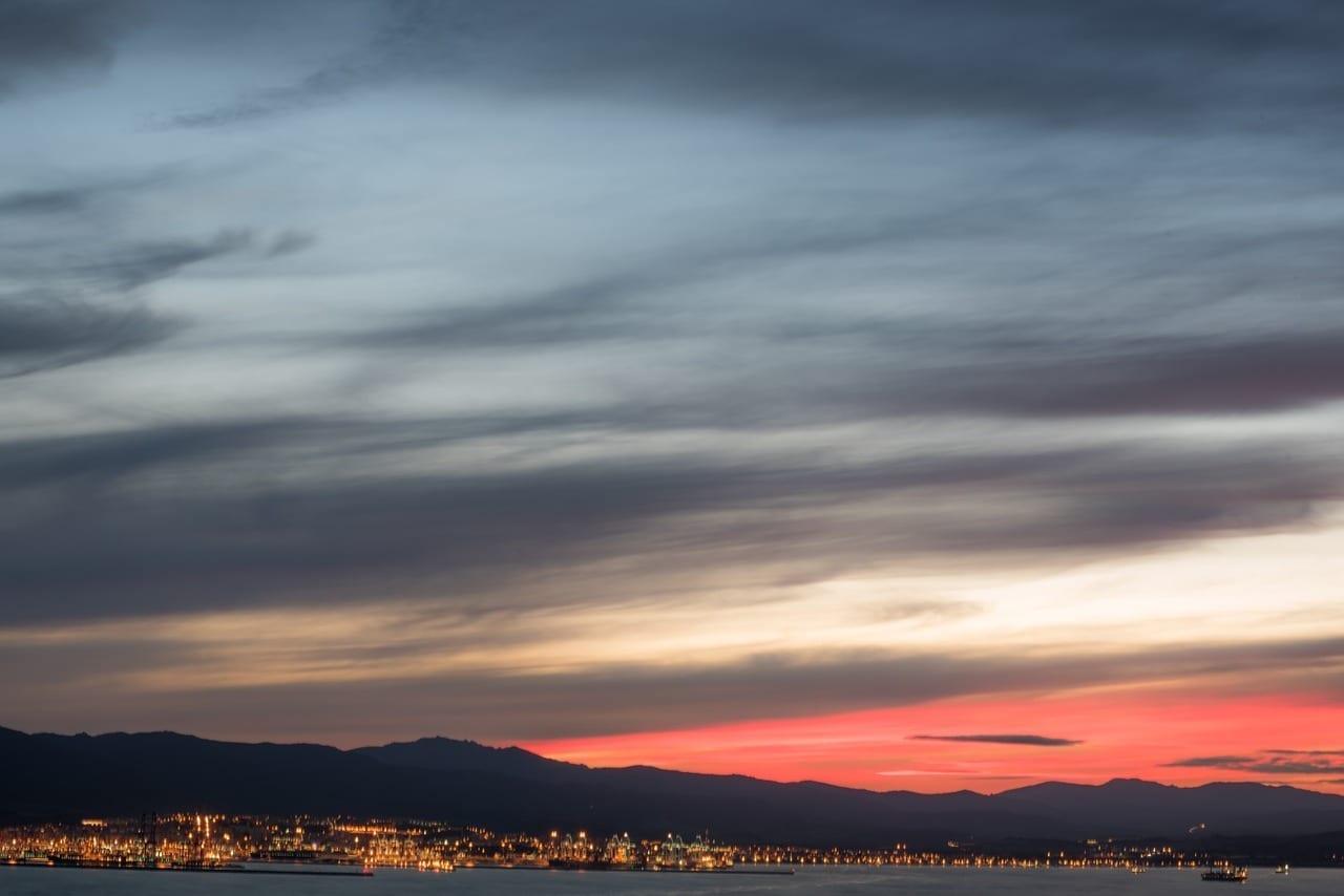 Atardecer Gibraltar Algeciras España
