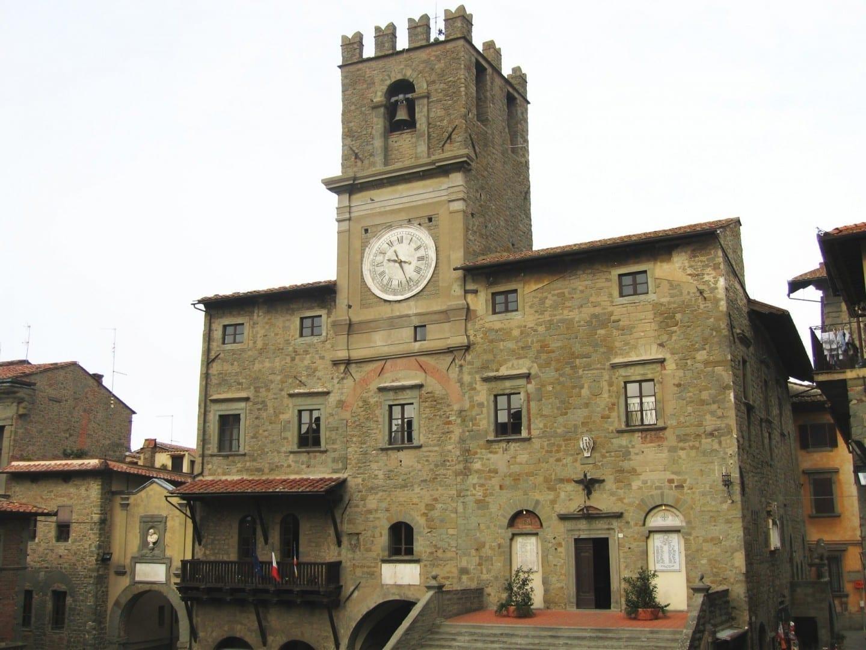Ayuntamiento, Plaza de la República Cortona Italia