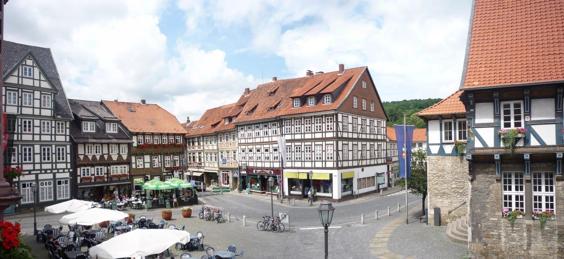 Bad Gandersheim La plaza del mercado Goslar Alemania