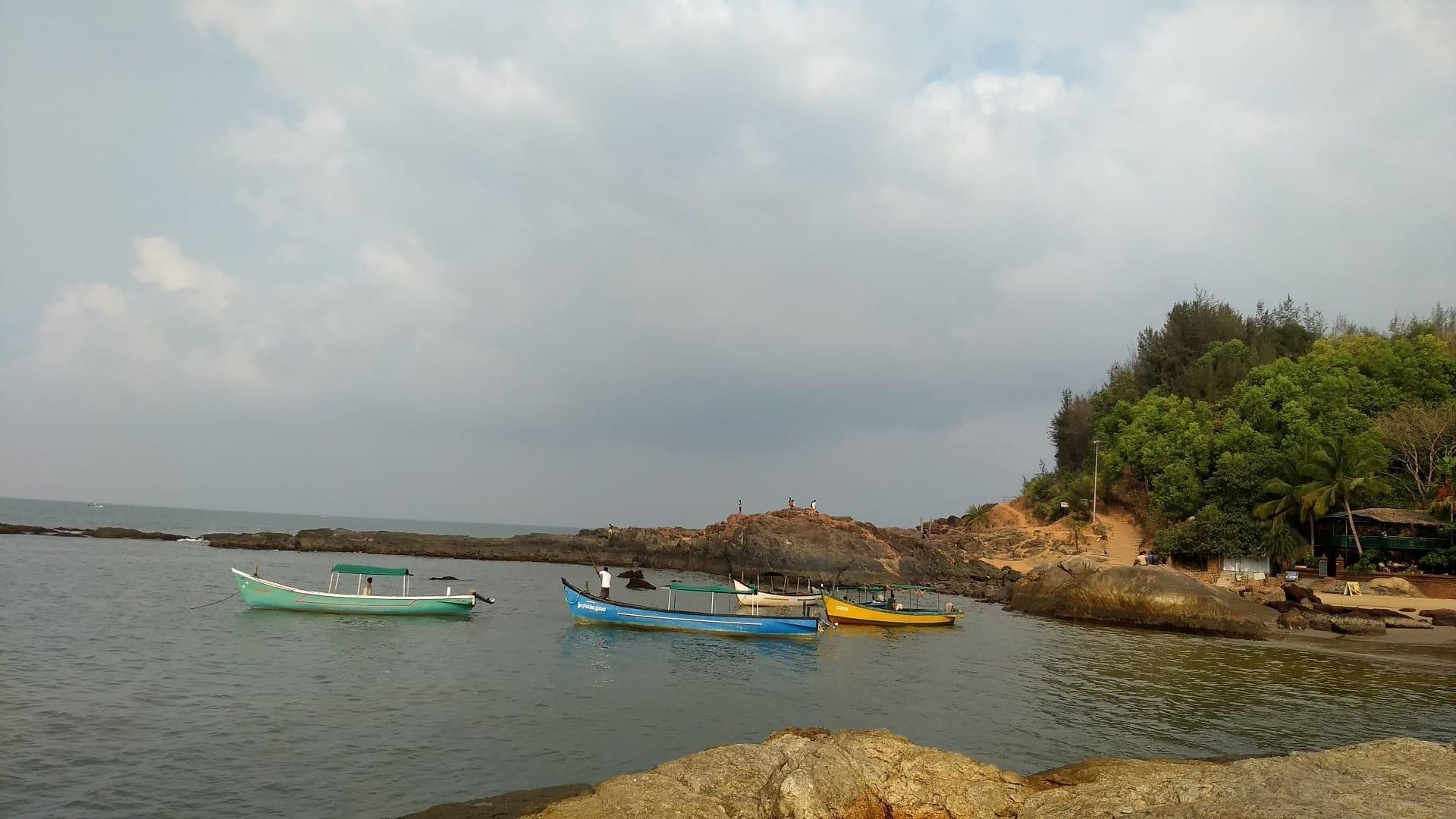 Barcos para turistas Gokarna India