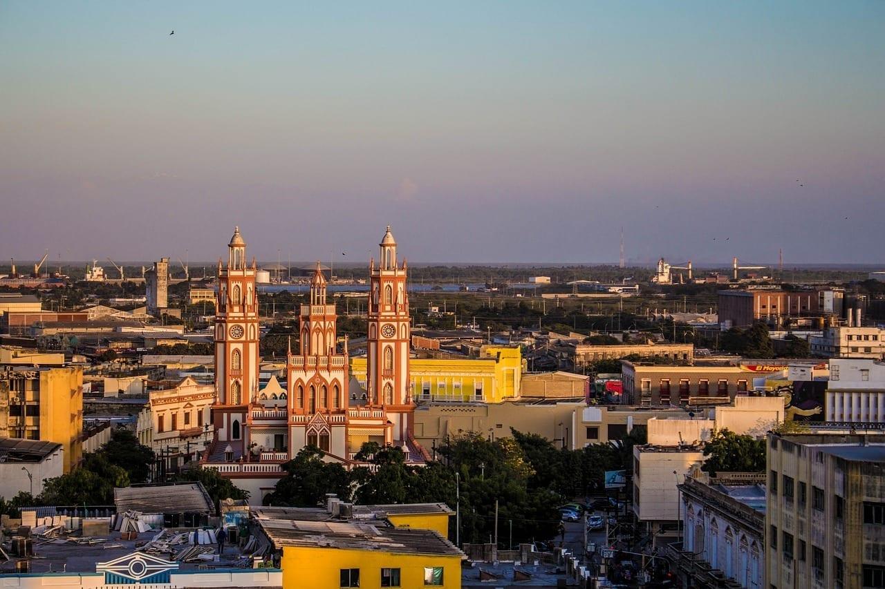 Barranquilla Atardecer Paisaje Colombia