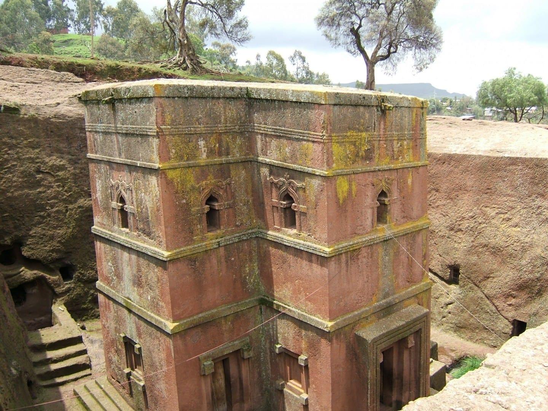 Bet Giyorgis - una de las 11 iglesias excavadas en roca en Lalibela Lalibela Etiopía