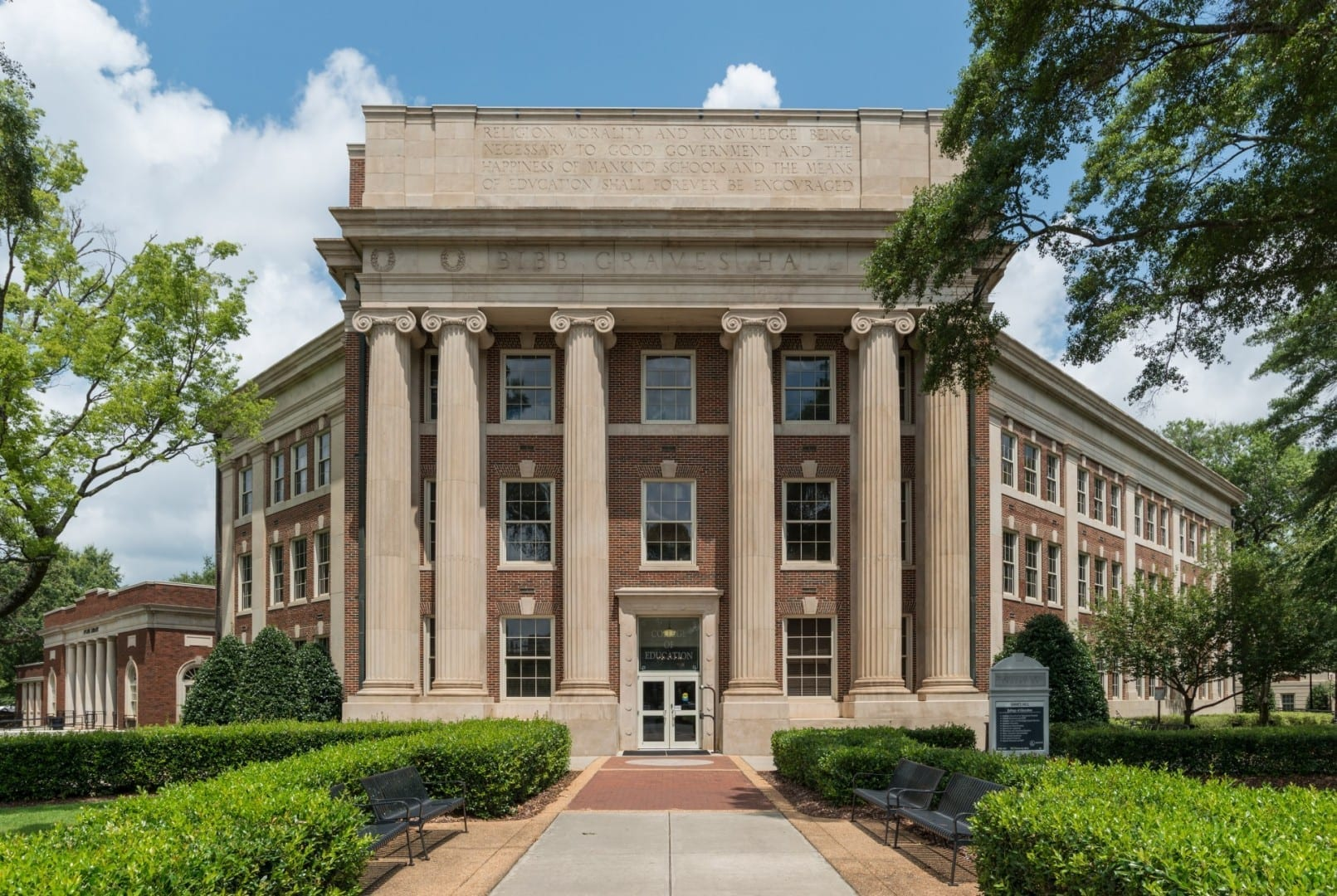 Bibb Graves Hall, Universidad de Alabama Tuscaloosa AL Estados Unidos