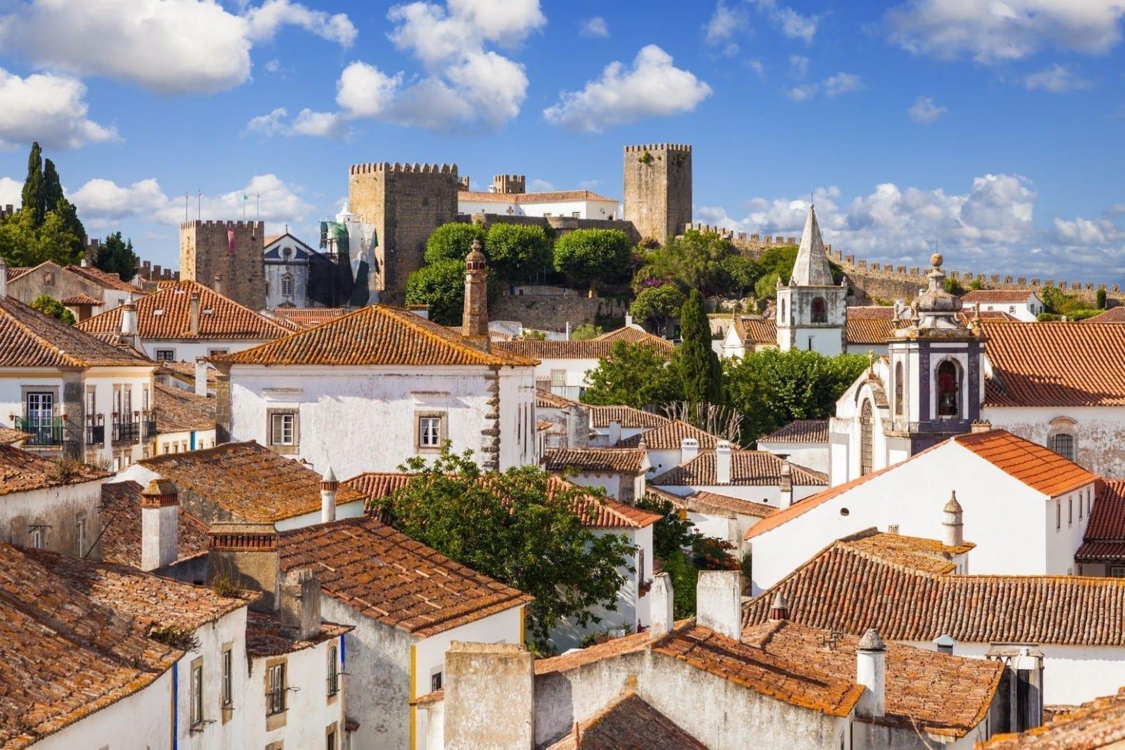Óbidos pueblo y castillo. Obidos Portugal