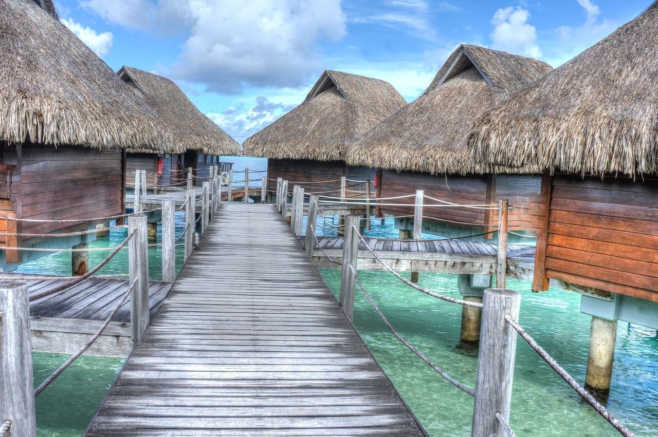 Bora Bora En Bungalows De Agua Tropicales Polinesia Francesa
