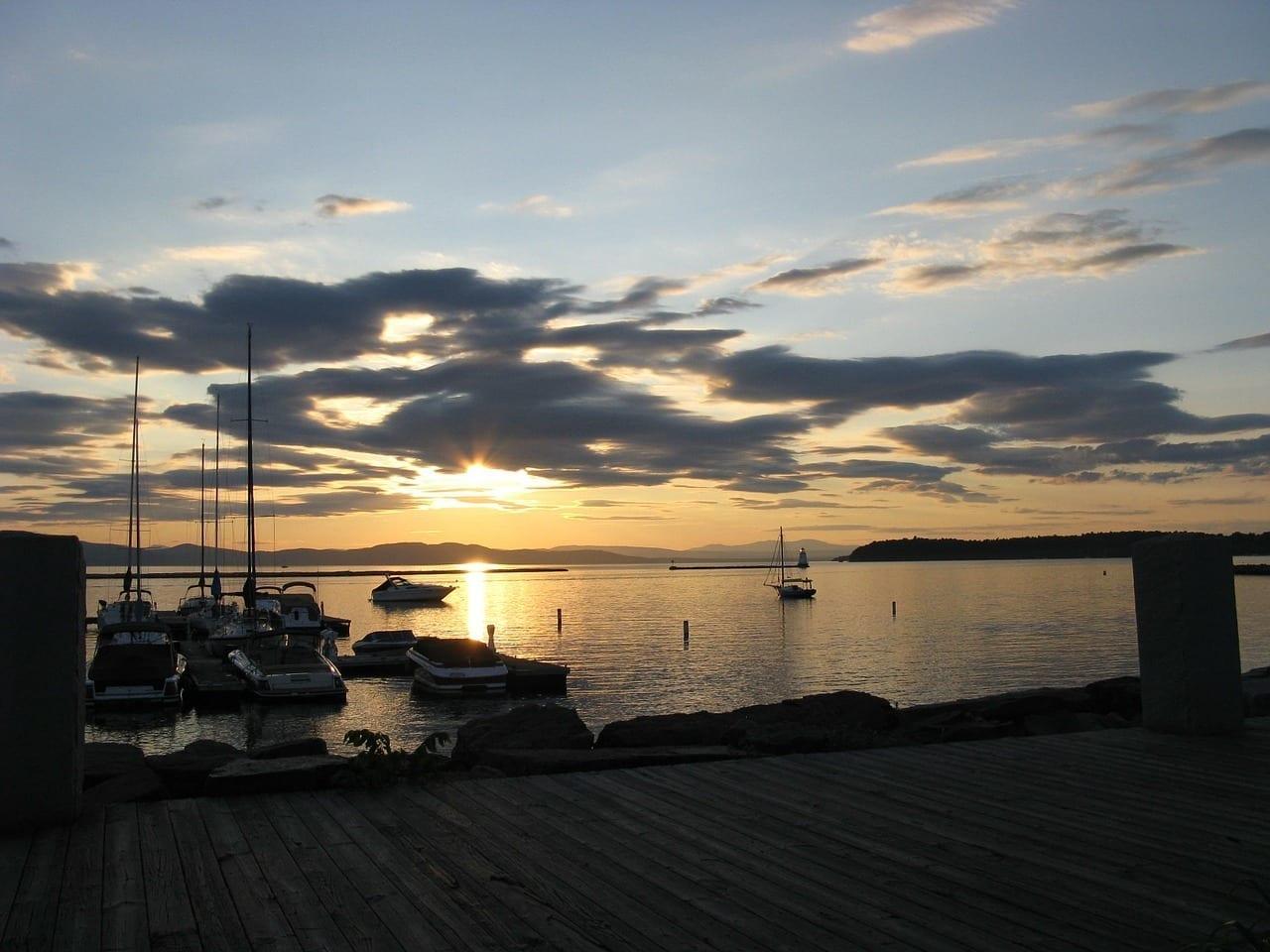 Burlington Vermont Lago Canadá