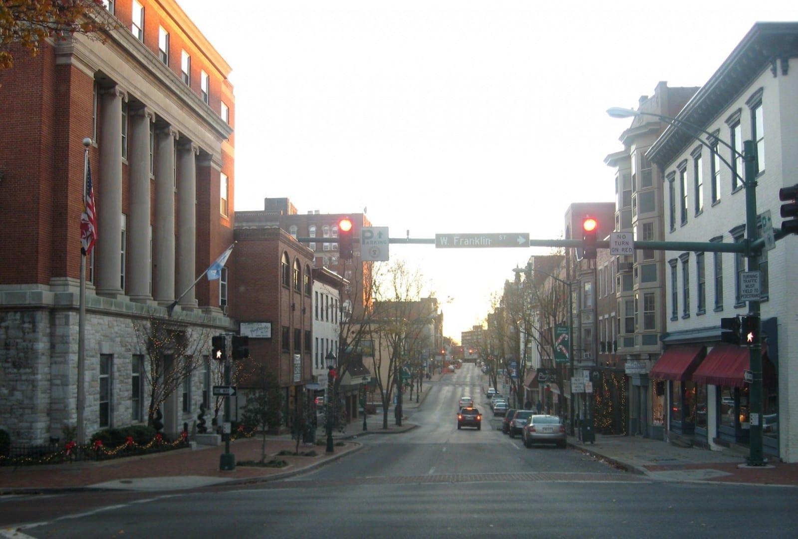 Calle Potomac, centro de Hagerstown. Hagerstown MD Estados Unidos