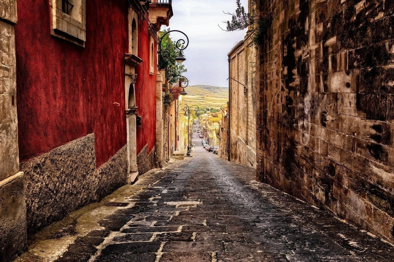 Callejón Carretera Sicilia Italia