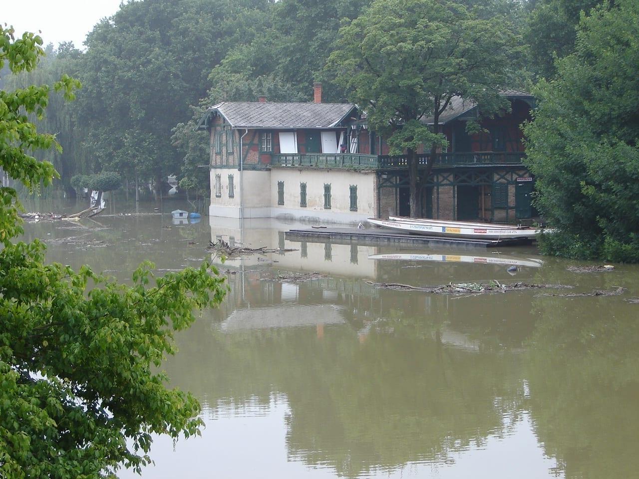 Casa de botes Gyor Hungría