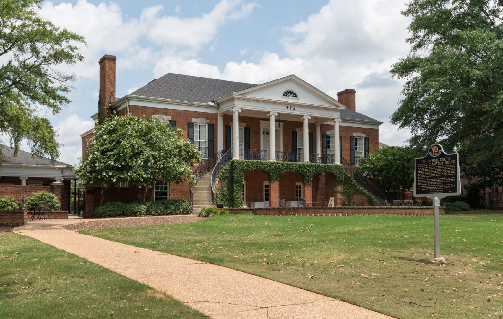 Casa de la Fraternidad Phi Gamma Delta, UA Tuscaloosa AL Estados Unidos