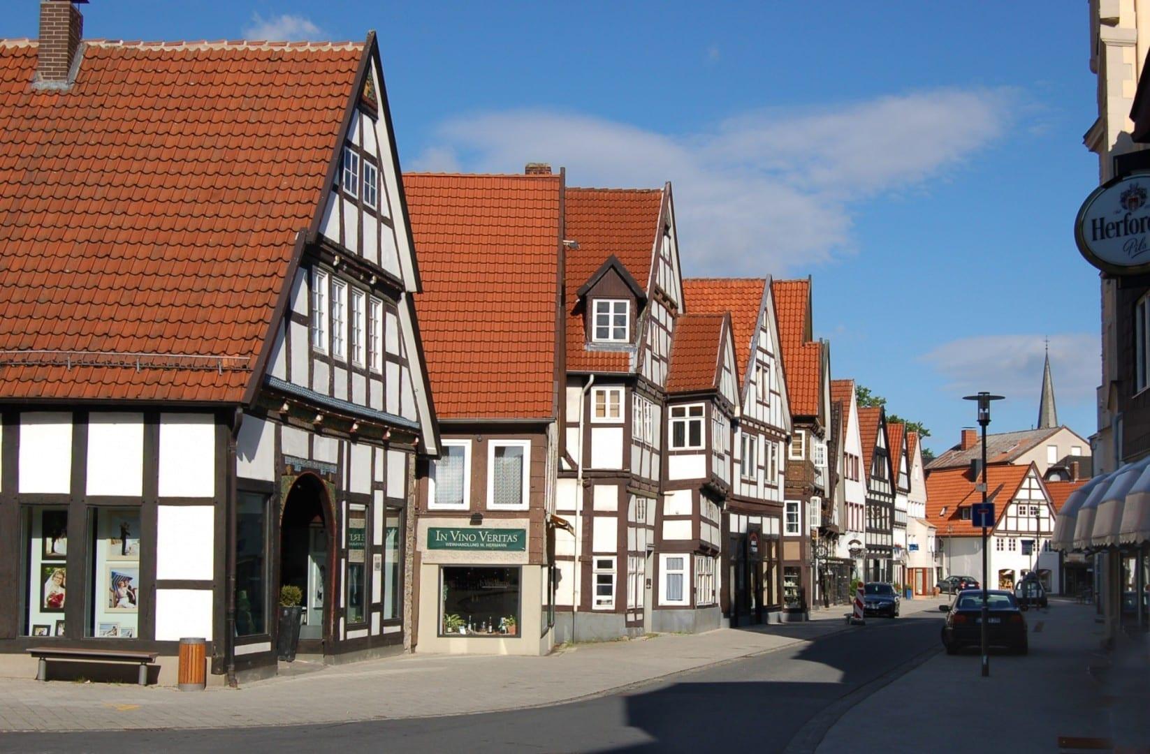 Casas de madera en la Ciudad Vieja Detmold Alemania