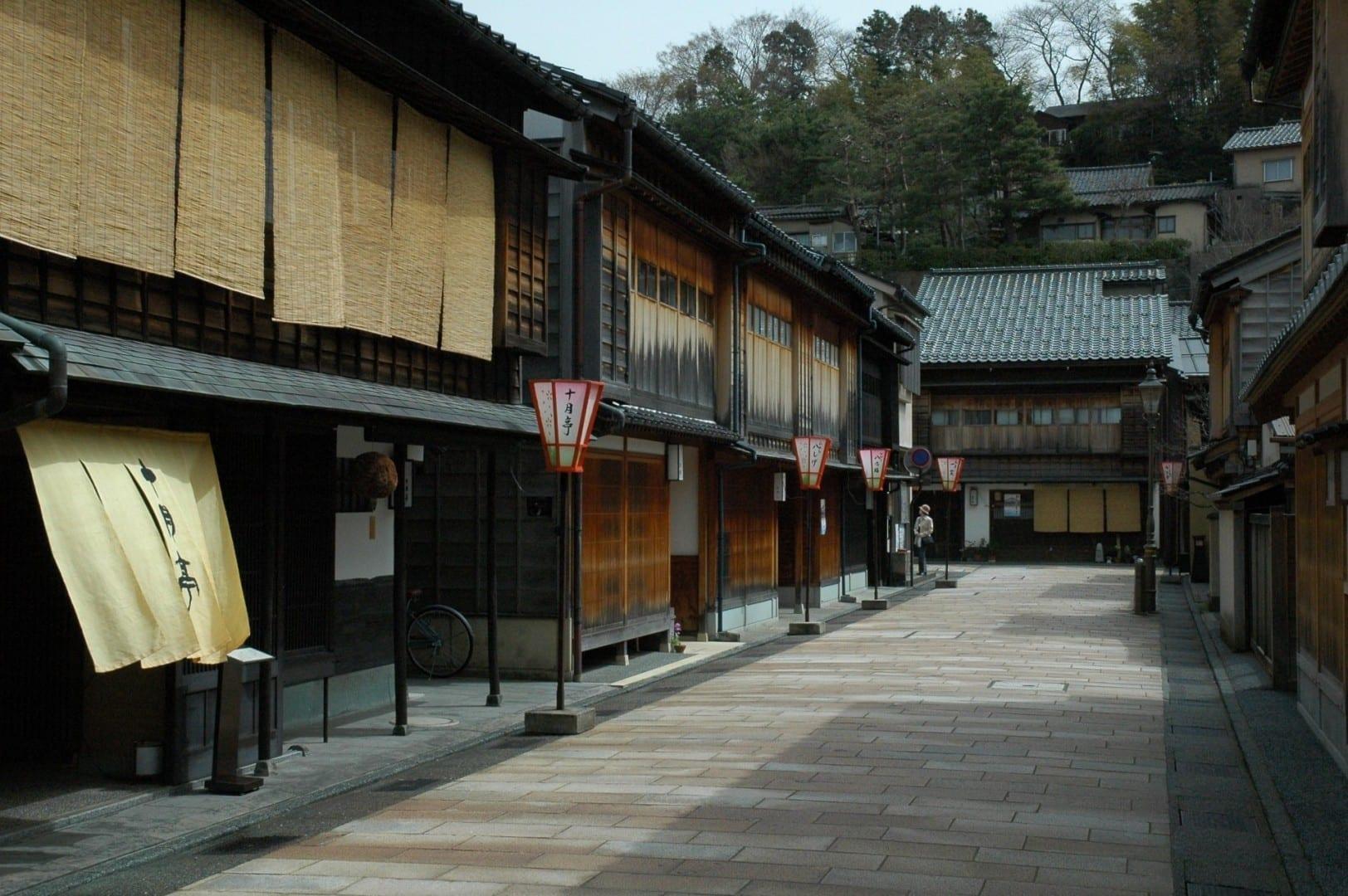 Casas de té en Higashi-Chayamachi Kanazawa Japón