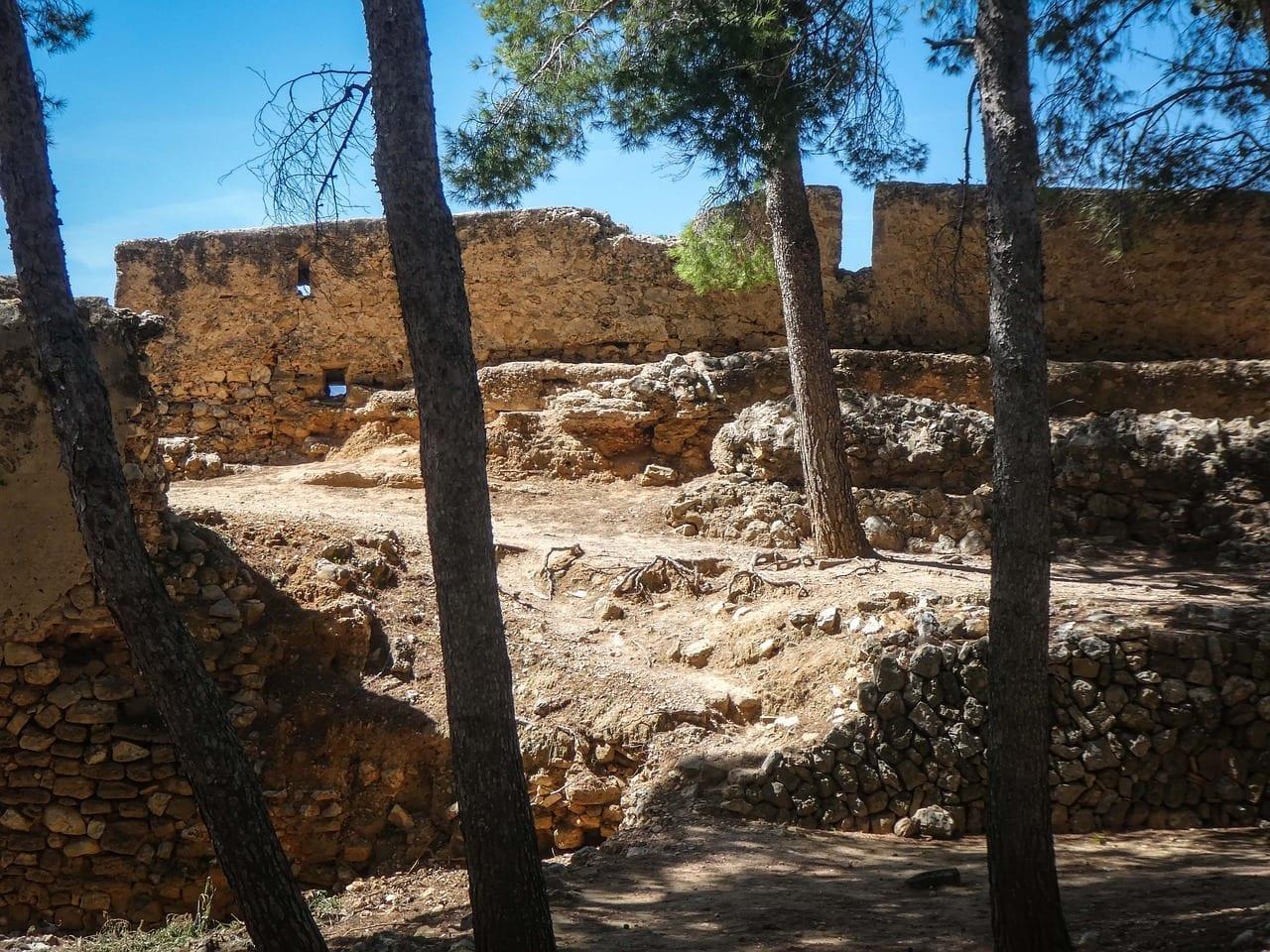 Castillo Ruinas Denia España