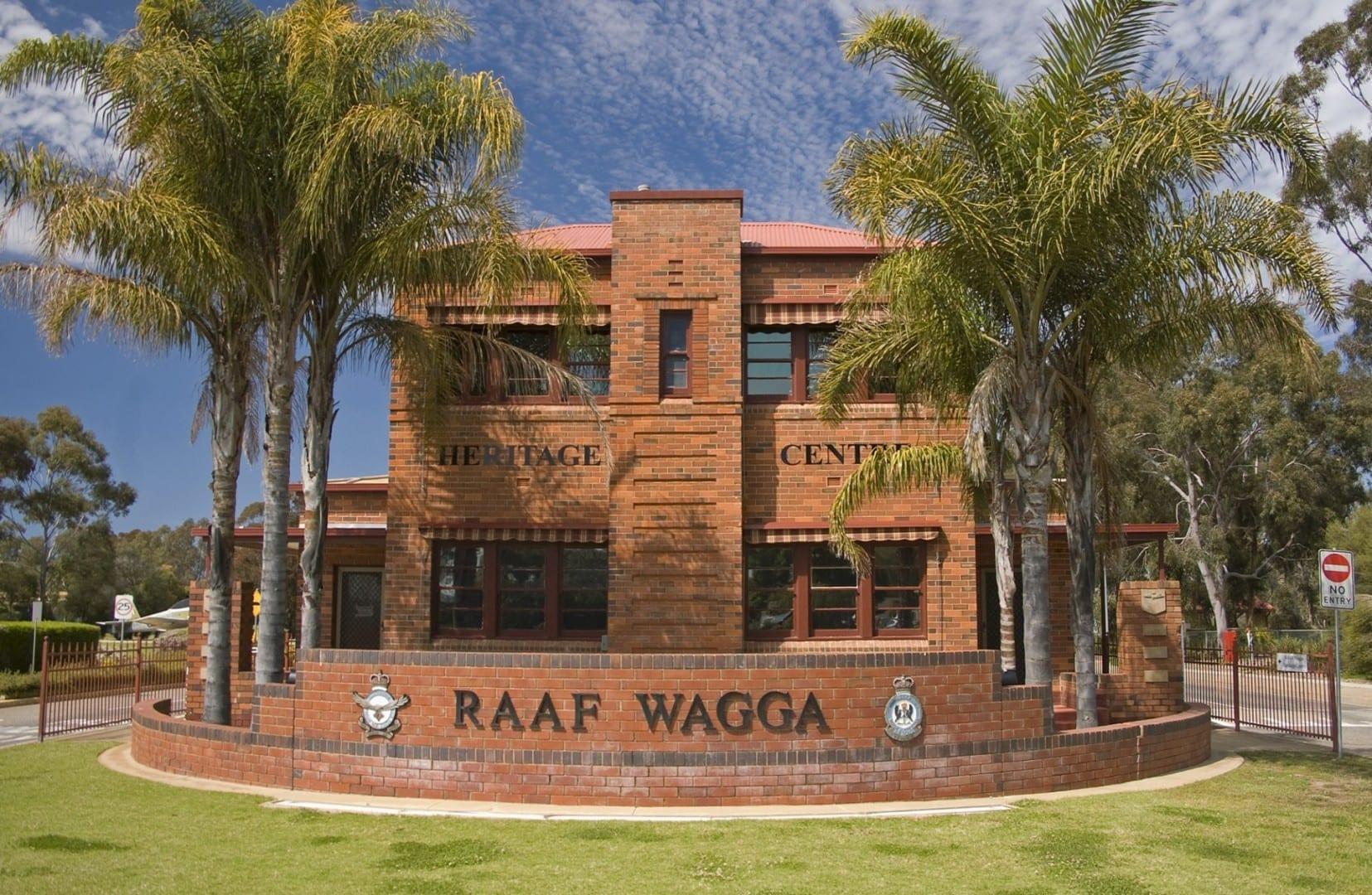 Centro de Patrimonio de la Aviación de la RAAF en Wagga, una antigua casa de guardia en la base de la RAAF en Wagga Wagga Wagga Australia