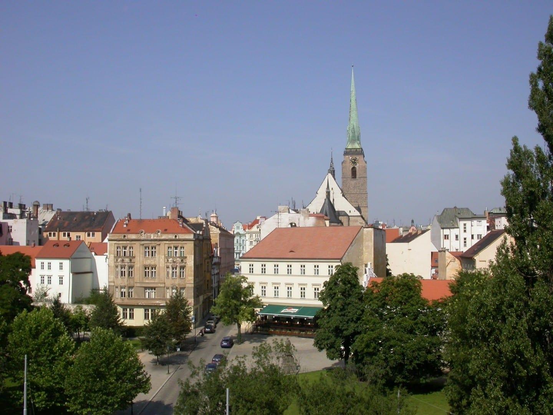 Centro de Pilsen con la Catedral de San Bartolomé Plzen (Pilsen) República Checa