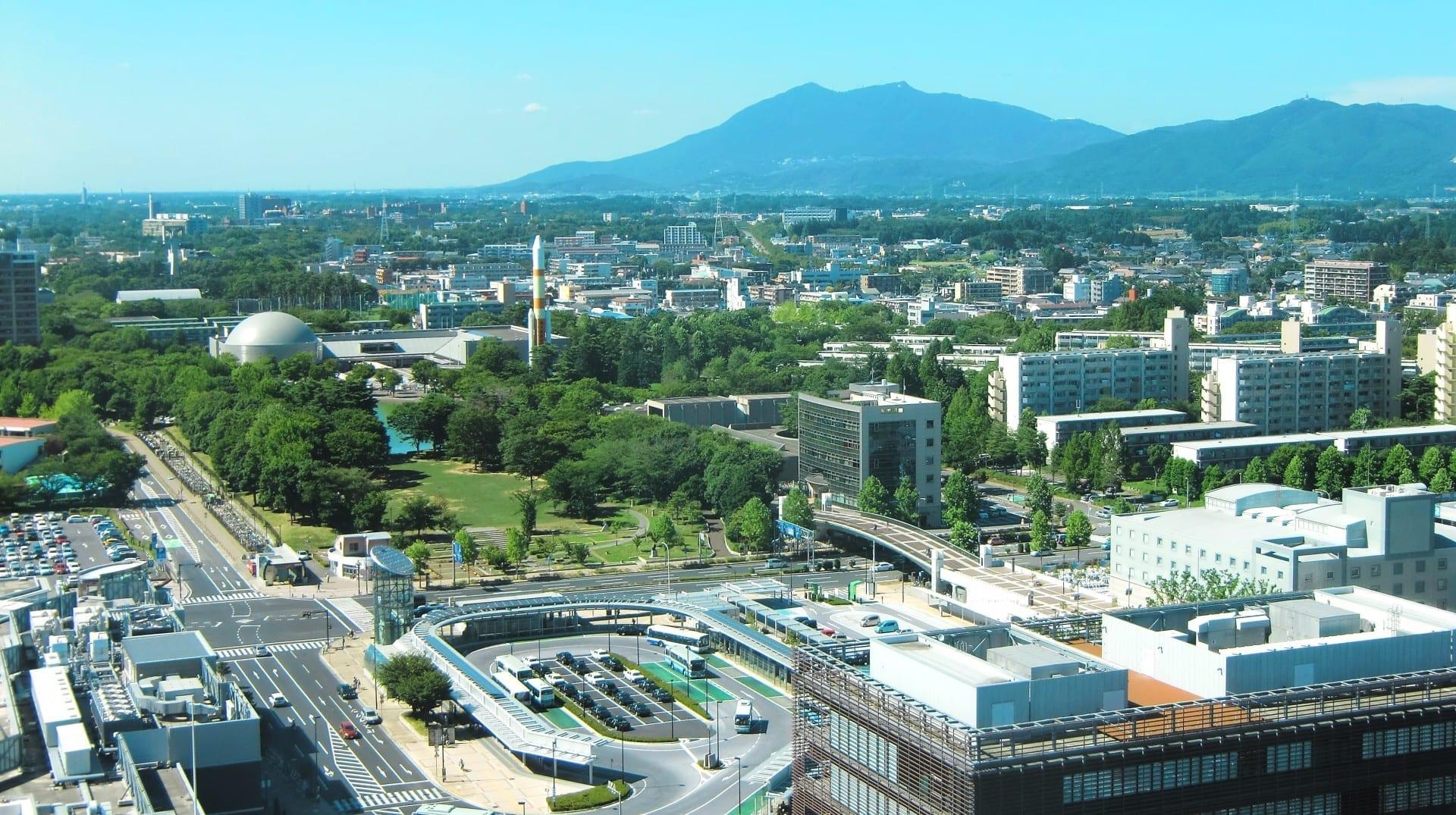Centro de Tsukuba y el Monte Tsukuba Tsukuba Japón