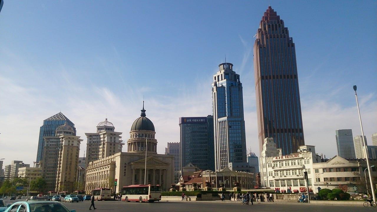 China Tianjin Edificios Altos China