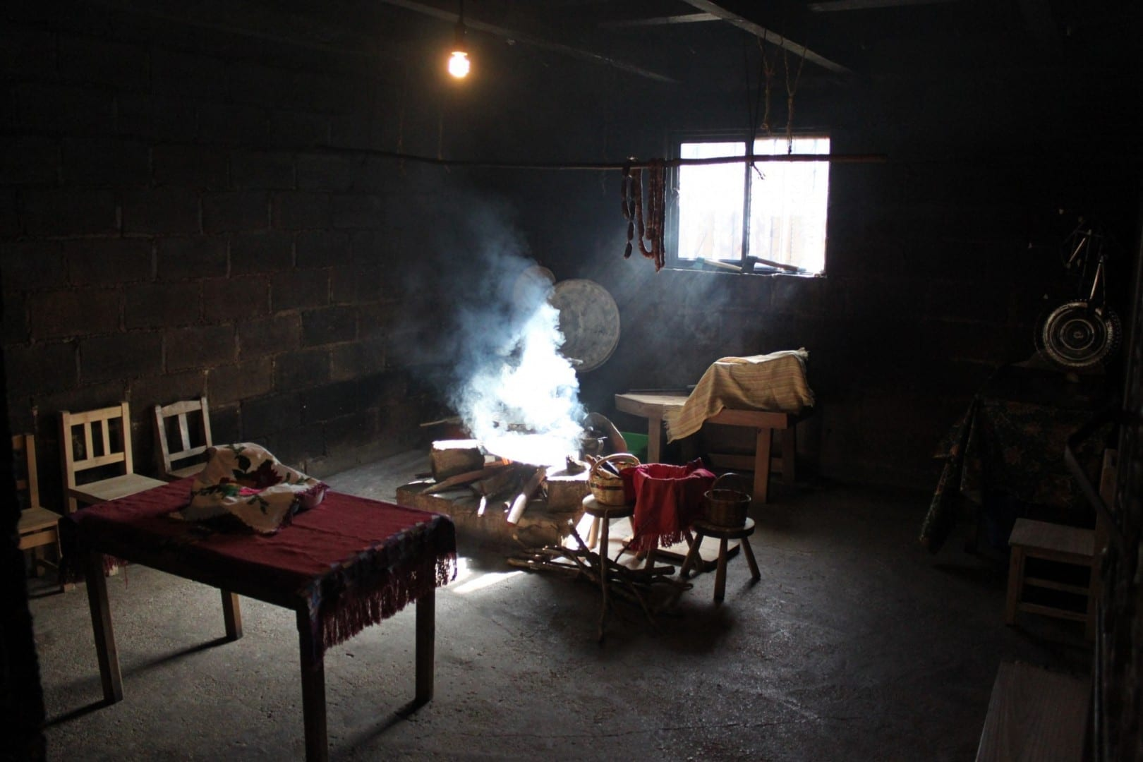 Cocina tradicional en Zinacantán San Cristobal de las casas México