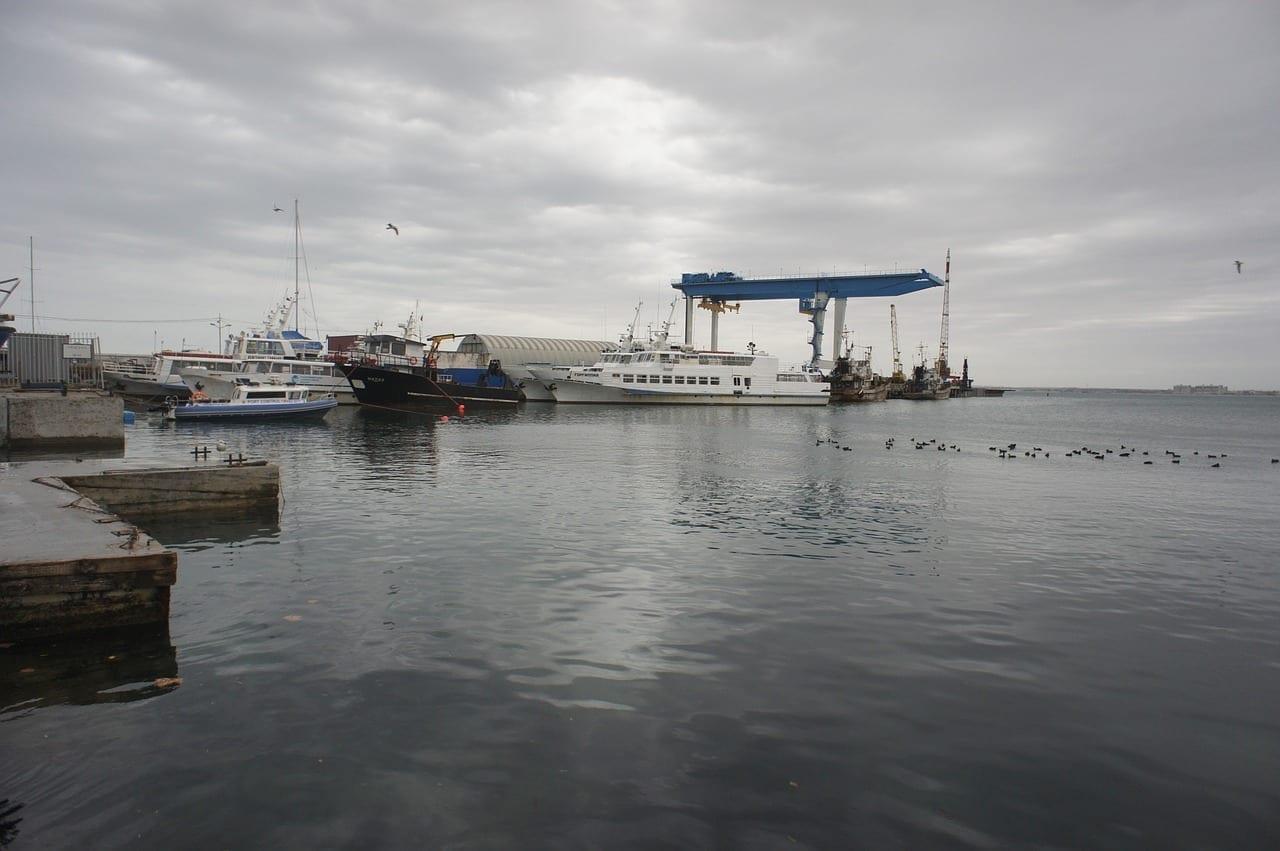 Cumberland Cove Anapa El Mar Negro En Invierno Rusia