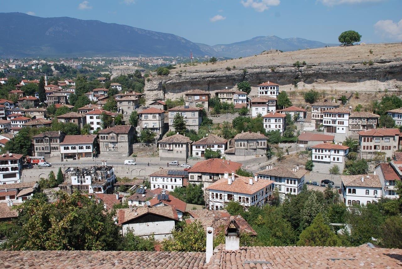 De Viaje Casas De Safranbolu Vista Panorámica De Safranbolu Turquía