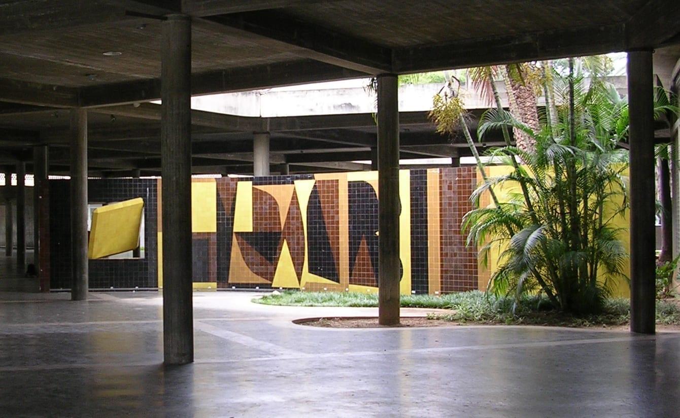 Dentro del complejo universitario que es patrimonio de la humanidad Caracas Venezuela