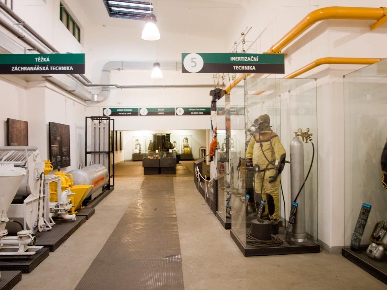 Dentro del museo de la minería en el Parque Landek Ostrava República Checa
