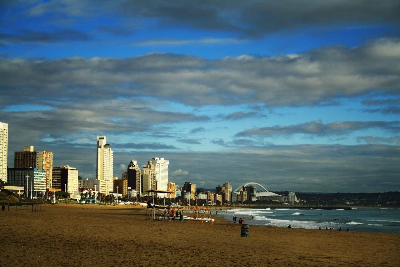 Durban Sudáfrica Frente A La Playa República de Sudáfrica