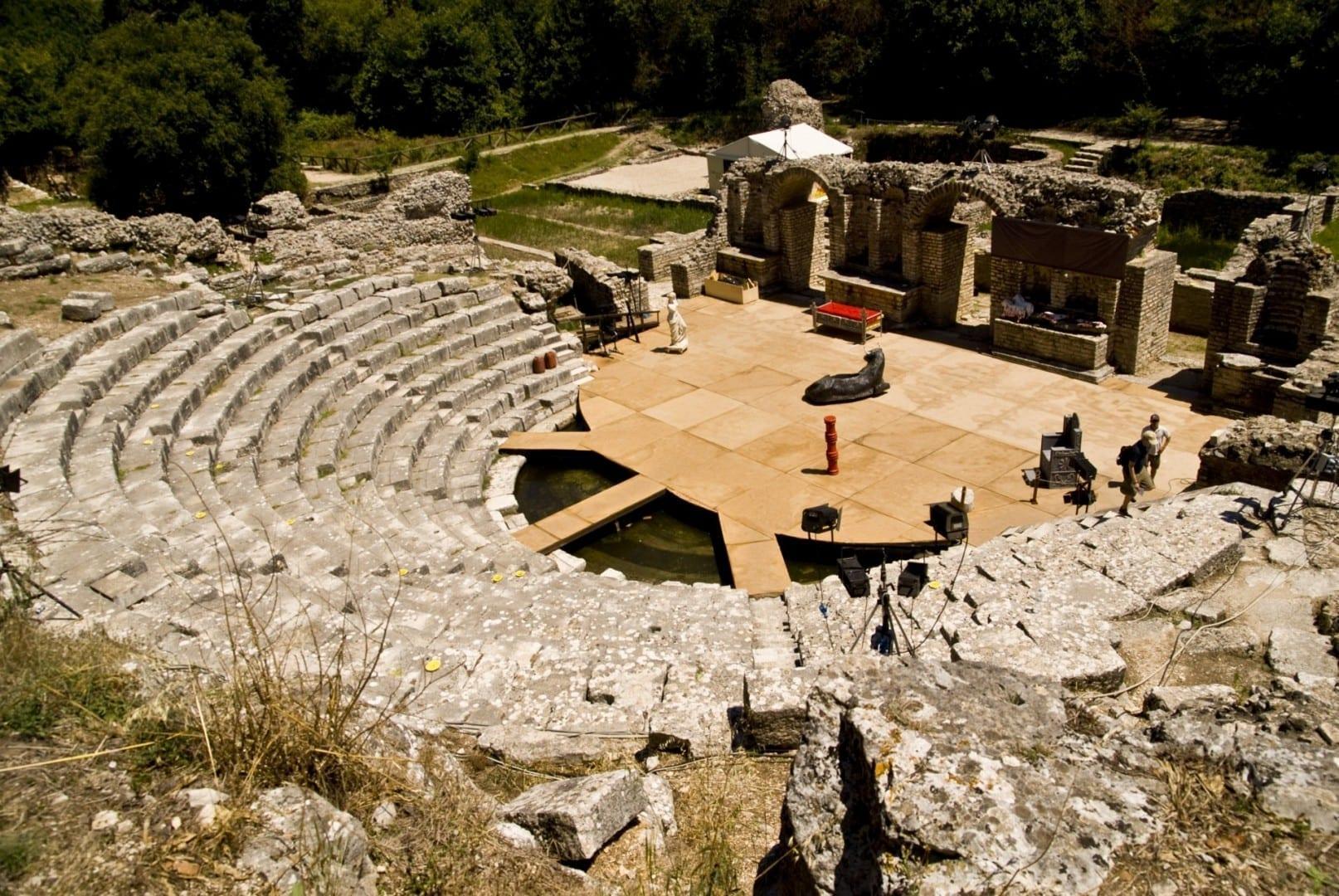 El anfiteatro grecorromano de Butrint Sarande Albania