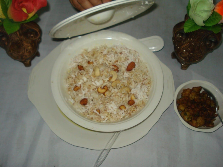 El arroz con coco es muy popular en Madurai. Madurai India