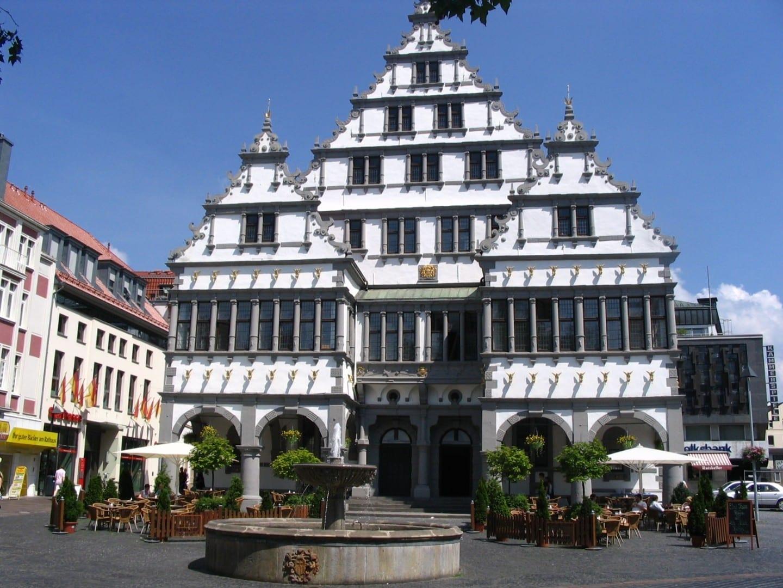El ayuntamiento de Paderborn Paderborn Alemania