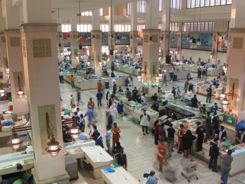 El bullicioso mercado de pescado de la ciudad de Kuwait Ciudad de Kuwait Kuwait
