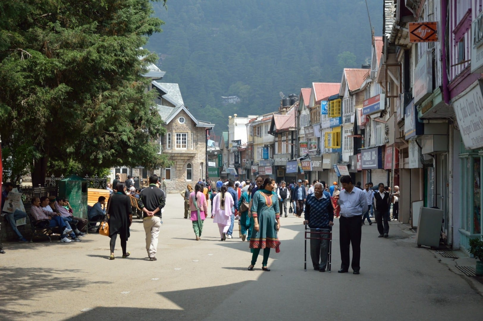 El camino del centro comercial, Shimla. Shimla India