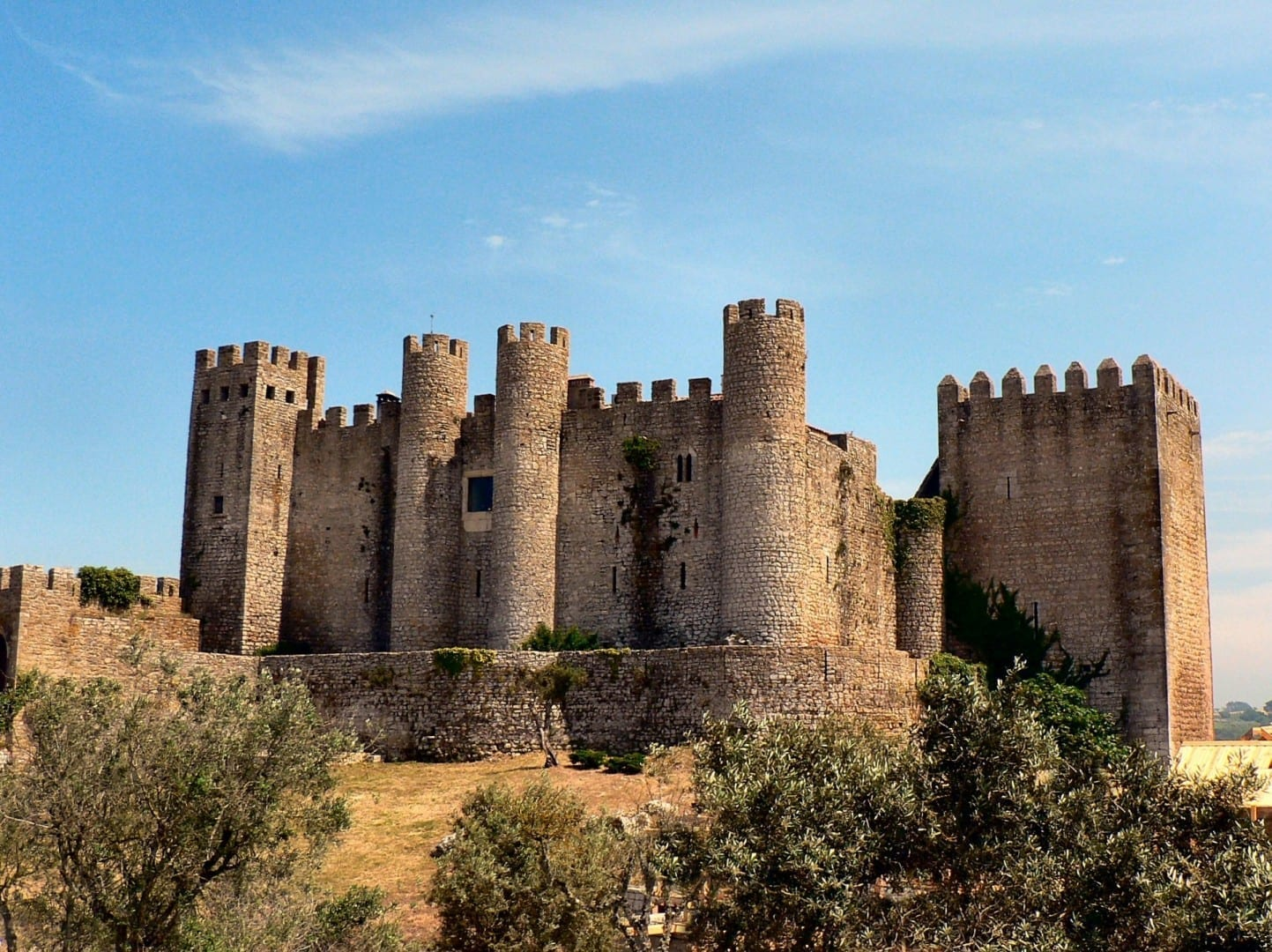 El castillo de Óbidos. Obidos Portugal