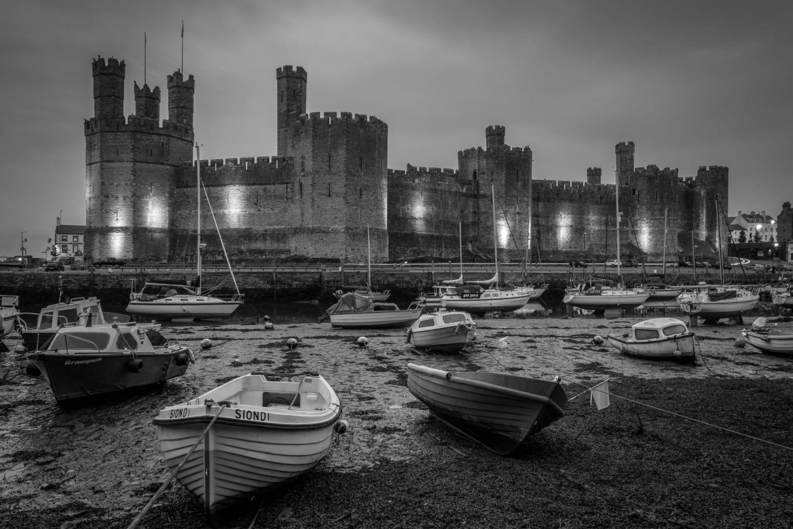 El castillo de Caernarfon Caernarfon Reino Unido