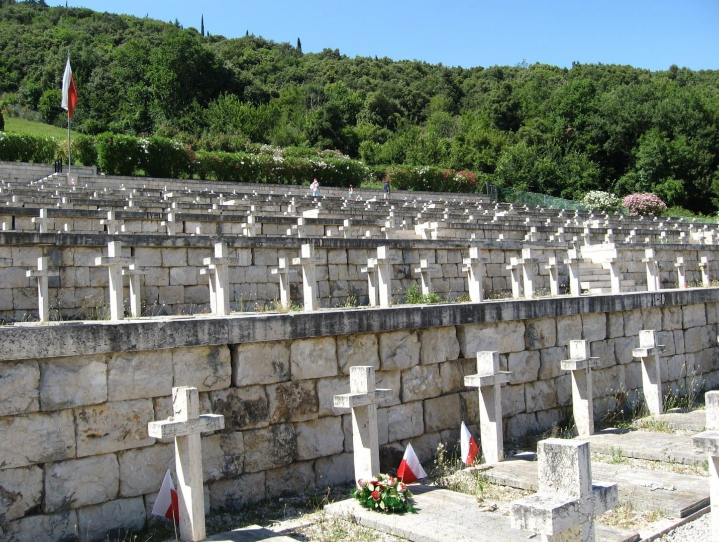 El cementerio polaco Cassino Italia
