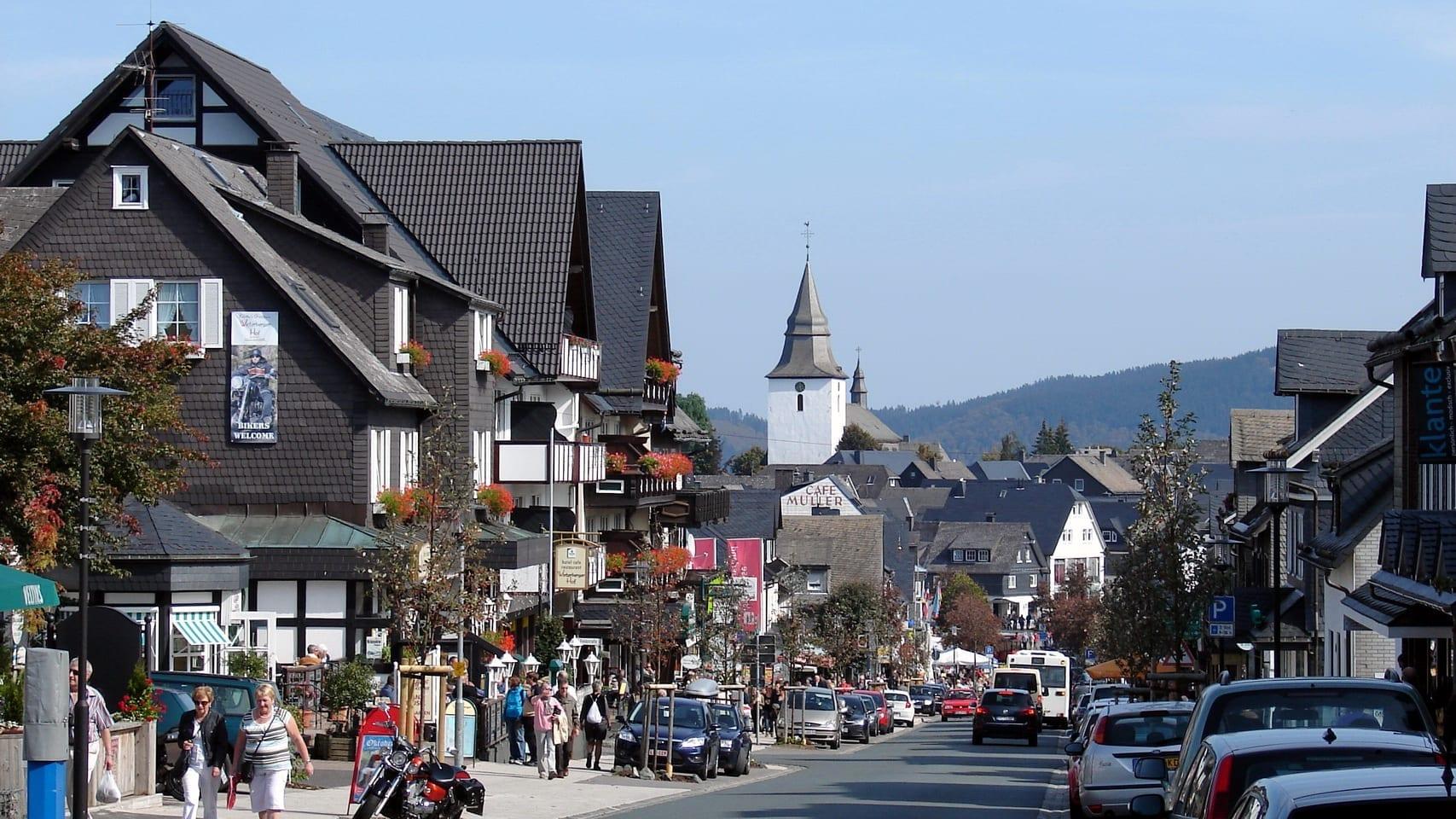 El centro de Winterberg Winterberg Alemania