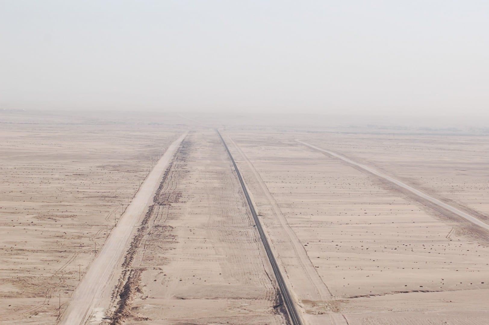 El desierto visto desde un globo aerostático Swakopmund Namibia