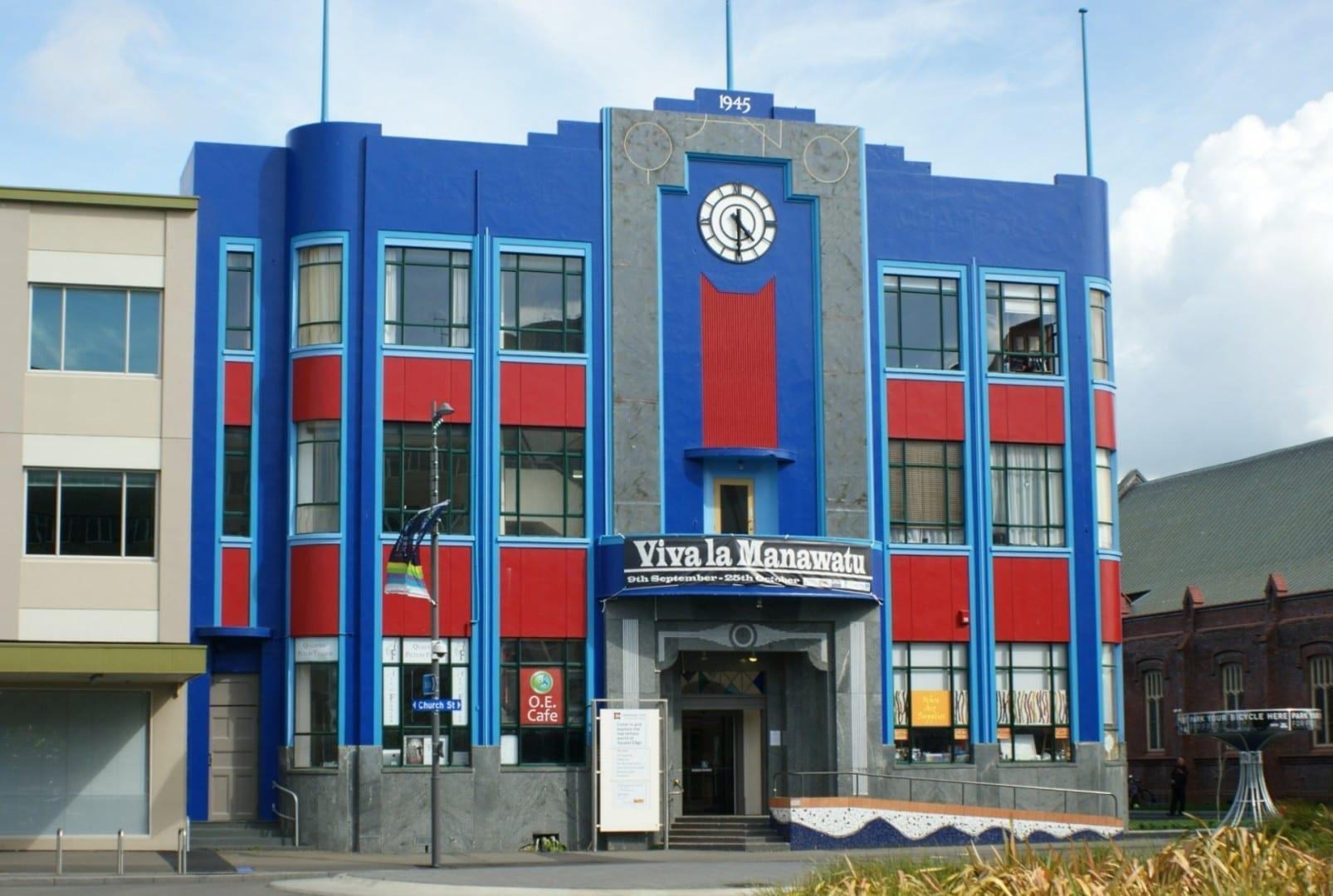 El edificio Art Deco de la plaza Palmerston north Nueva Zelanda