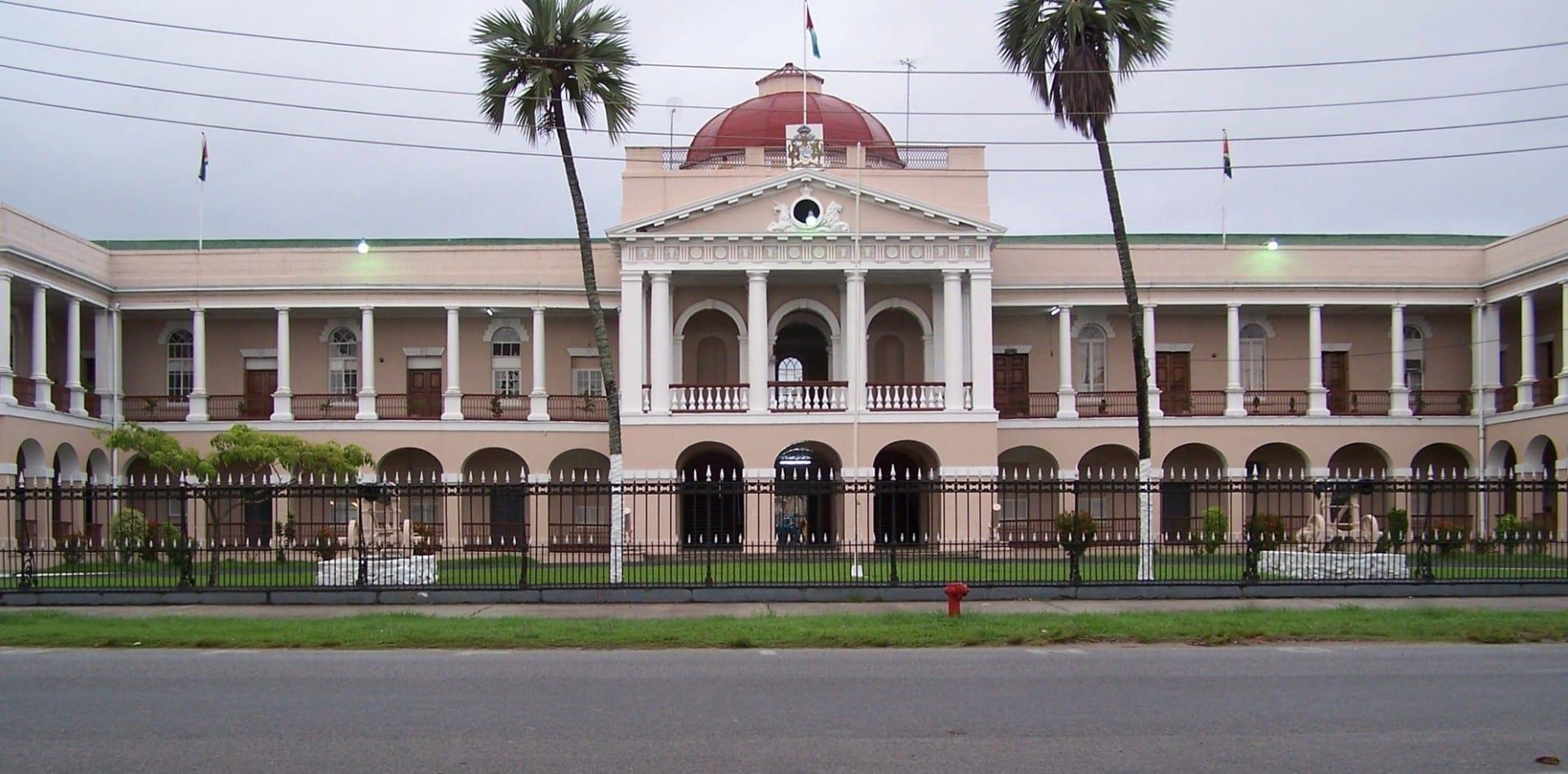 El edificio del Parlamento en Georgetown Georgetown Guyana
