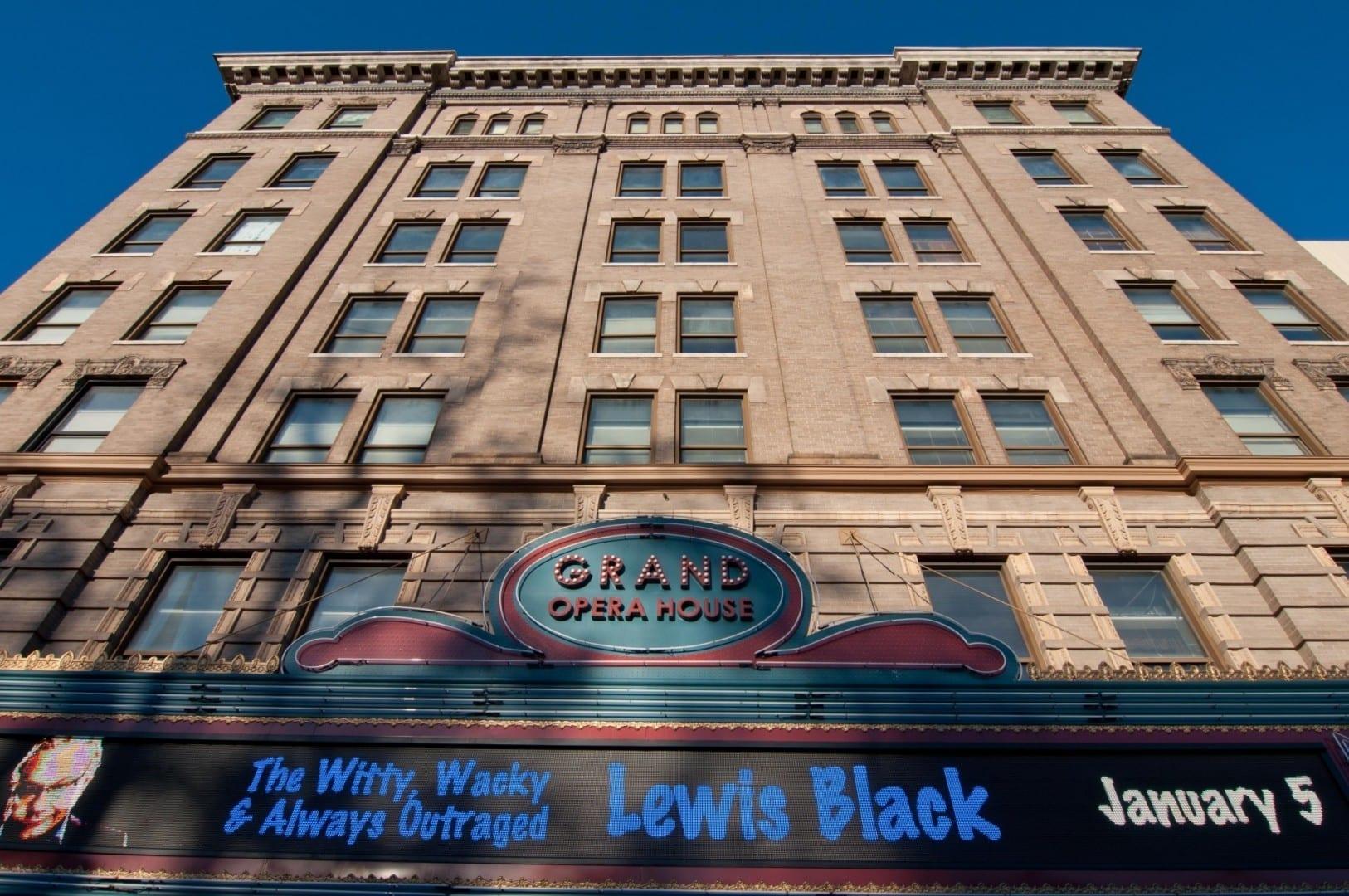 El Gran Teatro de la Ópera en el centro de Macon. Macon GA Estados Unidos