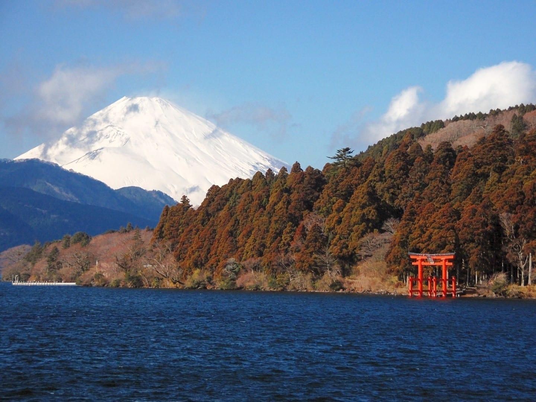 El lago Ashi y el monte Fuji Hakone Japón